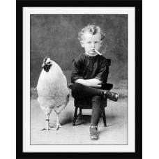 Magnetka Chlapec a sliepka