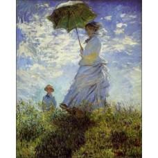 Magnetka Monet - Dáma s dáždnikom